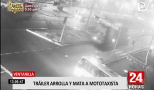 Ventanilla: tráiler impacta contra mototaxi y mata al conductor