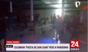 Tingo María: intervienen 'privaditos' y fiestas clandestinas por San Juan