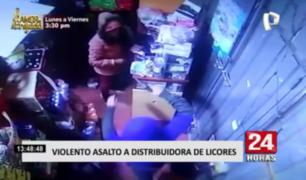 Manchay: cámara registró violento asalto a distribuidora de licores
