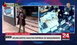 Delincuentes asaltaron empresa de maquinarias en Villa El Salvador