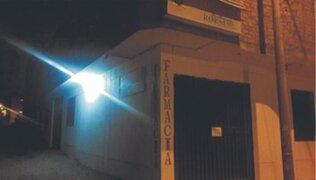 La Libertad: extorsionadores detonan explosivo en farmacia exigiendo el pago de cupo