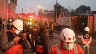 SJL: dos niños perdieron la vida en incendio que se produjo en Canto Rey