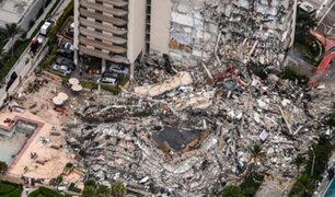 EEUU: incendio dificulta rescate de sobrevivientes de derrumbe de un edificio en Miami