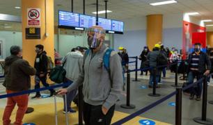 MINCETUR: Uso de protector facial no será obligatorio para vuelos nacionales e internacionales