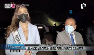 Janick Maceta: Miss Perú visitó Cañete para entregar alimentos y frazadas
