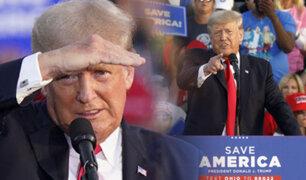 Donald Trump reaparece en mitin de campaña en Ohio