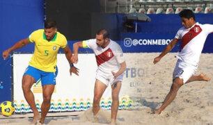 Fútbol Playa: Perú cayó ante Brasil en el debut de las Eliminatorias