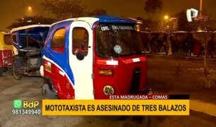 Mototaxista asesinado en Comas: extranjero fue baleado en presunto ajuste de cuentas