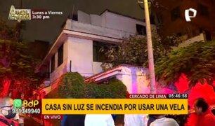 Cercado de Lima: incendio en vivienda se habría producido por vela encendida