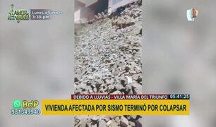 VMT: vivienda apoyada en pircas colapsó por continuas lluvias