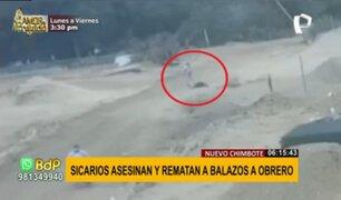Nuevo Chimbote: sicarios persiguen y asesinan a balazos a obrero de construcción