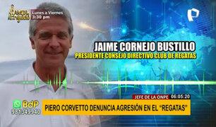 """Presidente del club Regatas sobre agresión a jefe de la ONPE: """"es una cortina de humo"""""""