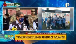 Óscar Ugarte: Martín Vizcarra no recibirá segunda vacuna contra la covid-19