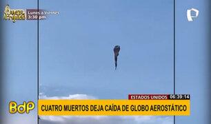 EEUU: globo aerostático se incendia al chocar con cables de alta tensión