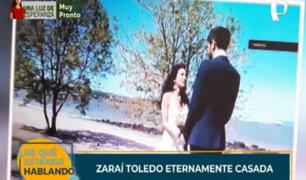 Zaraí Toledo: hija del expresidente Alejandro Toledo se casó en Canadá
