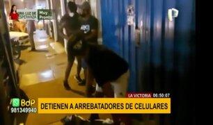 La Victoria: capturan a dos integrantes de banda dedicada a robar celulares