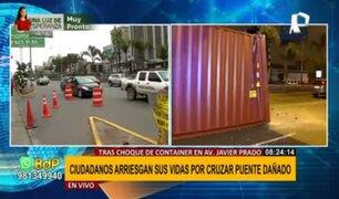 Accidente en Puente Carriquiry: ciudadanos arriesgan sus vidas al cruzar estructura dañada