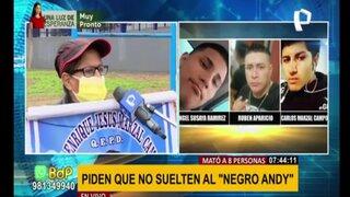 """Familiares de joven asesinado piden justicia y que no liberen a """"Negro Andy"""""""
