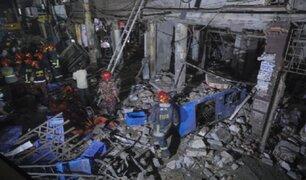Bangladesh: siete muertos deja explosión de edificio comercial por fuga de gas