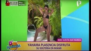 Picantitas del Espectáculo: Yahaira Plasencia disfruta de su soltería en Miami