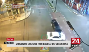 Cámara de seguridad registró violento accidente vehicular en Tacna