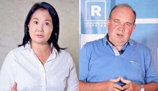 Keiko Fujimori se deslinda de la violencia que incita Rafael López Aliaga