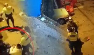 Borrachos atacaron con botellas a policías durante intervención en Chorrillos