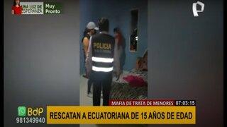Trata de personas de la PNP rescató a menor ecuatoriana que era prostituida en Piura