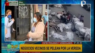 El Agustino: venezolanos y peruanos se enfrentan por el control de zona comercial