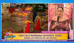 San Luis: estos son los precios de las frutas en el Mercado Mayorista