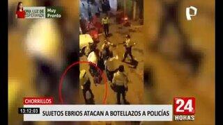 Chorrillos: covidiotas atacan a agentes policiales que intervinieron fiesta clandestina