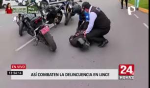 Así combaten la inseguridad ciudadana en las calles de Lince