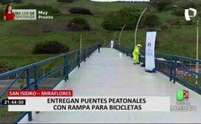 Miraflores: Habilitan puentes peatonales inclusivos en la Costa verde