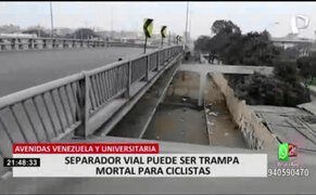 MML procedió a clausurar separador vial inconcluso de bypass de Av. Venezuela