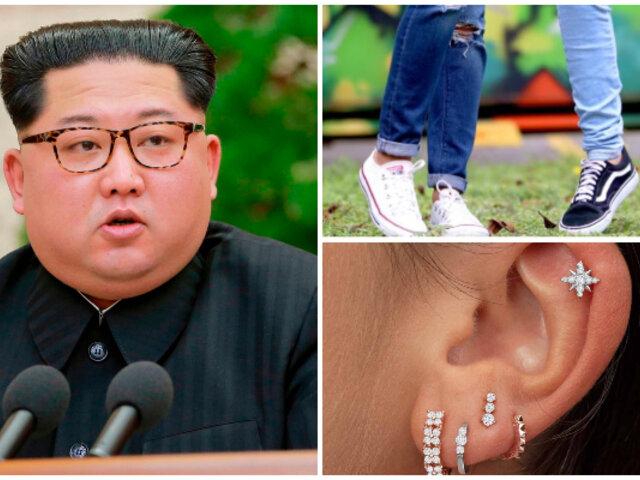 ¡Adiós a la moda! Kim Jong-Un prohíbe usar jeans ajustados y piercings