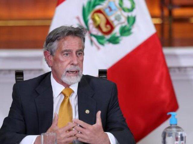 Sagasti espera reunión entre Castillo y Fujimori para concertar acuerdo de respeto mutuo y gobernabilidad