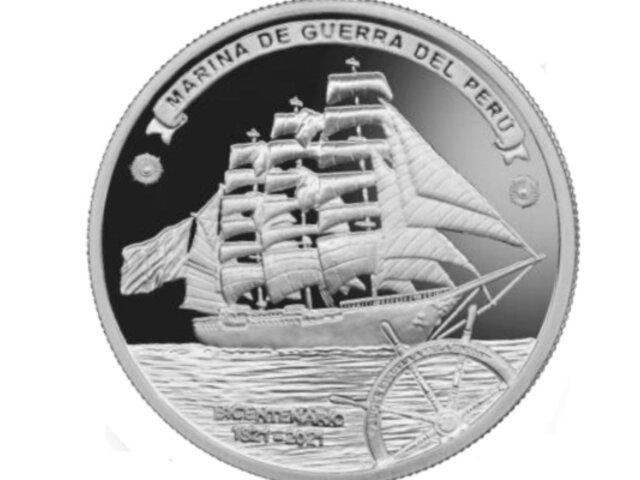 BCR lanza nueva moneda de S/1 alusiva al bicentenario de la Marina de Guerra del Perú