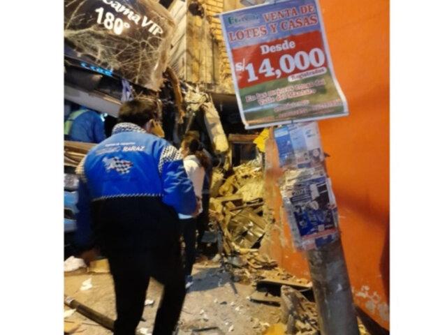 Accidente en la Carretera Central: siete heridos deja choque de bus interprovincial