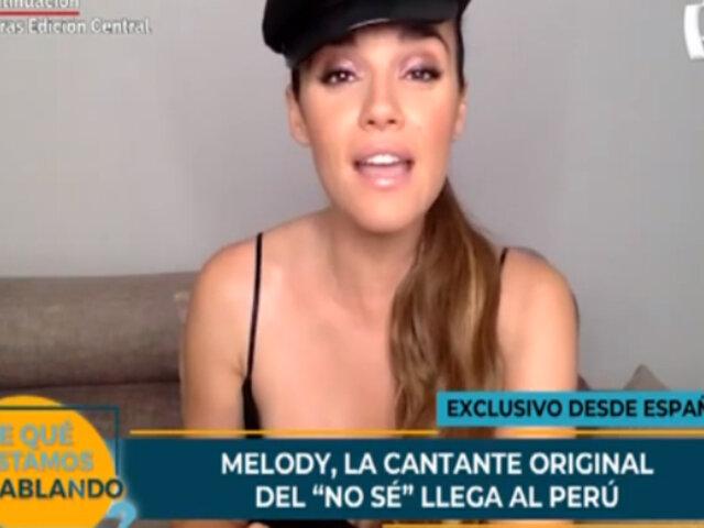 """Melody llega a Perú y es invitada a cantar su tema """"No sé"""" junto a Explosión de Iquitos"""