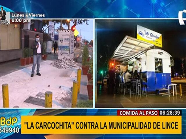 """""""Mi Carcochita"""" fue retirada por la Municipalidad de Lince por no contar con permiso"""