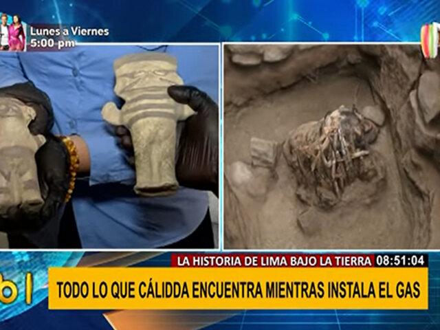 Conozca los restos arqueológicos encontrados durante instalaciones de gas en Lima