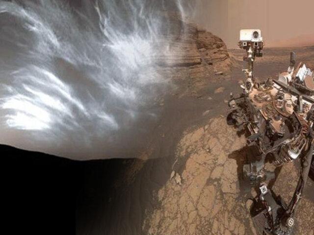 Curiosity capta coloridas nubes iridiscentes en el cielo de Marte