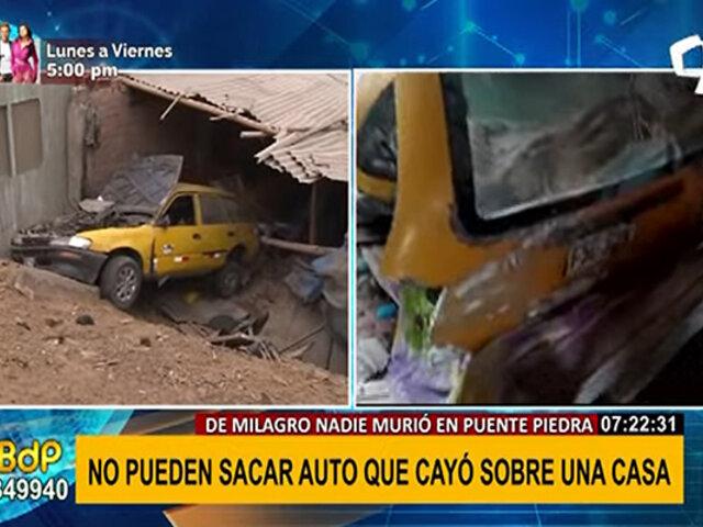 Puente Piedra: taxista pierde el control y vehículo cae sobre dormitorio de una niña