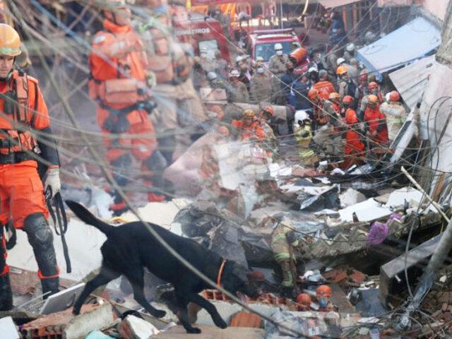 Edificio residencial se derrumba y deja dos muertos