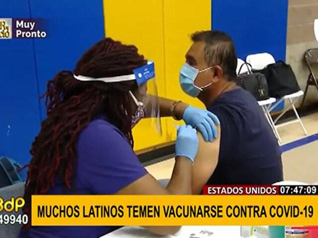EEUU: Latinos temen vacunarse por temor a quedar estériles