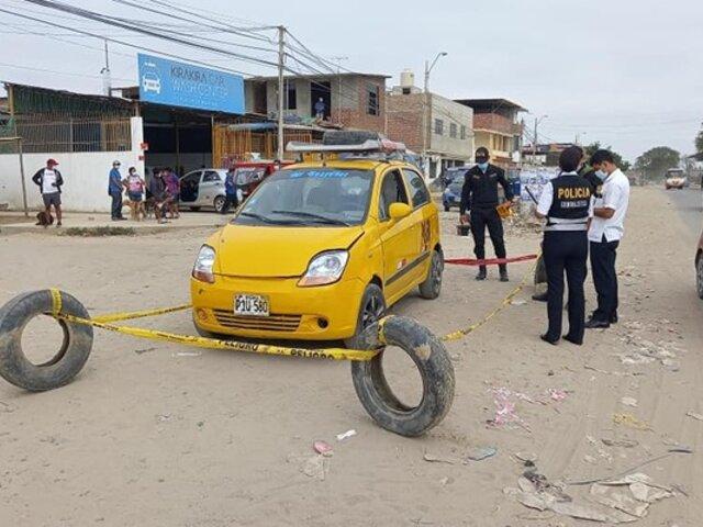 De varios disparos fue asesinado taxista a pocos metros de su vivienda en Piura