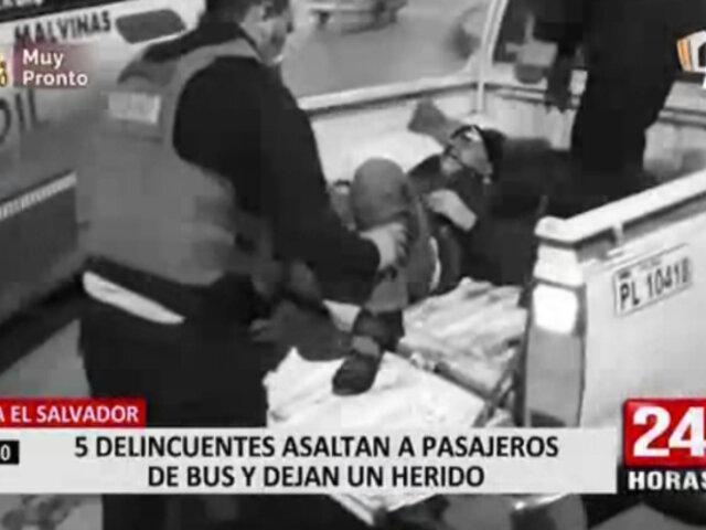 VES: asalto a bus de transporte público dejó un pasajero herido de bala