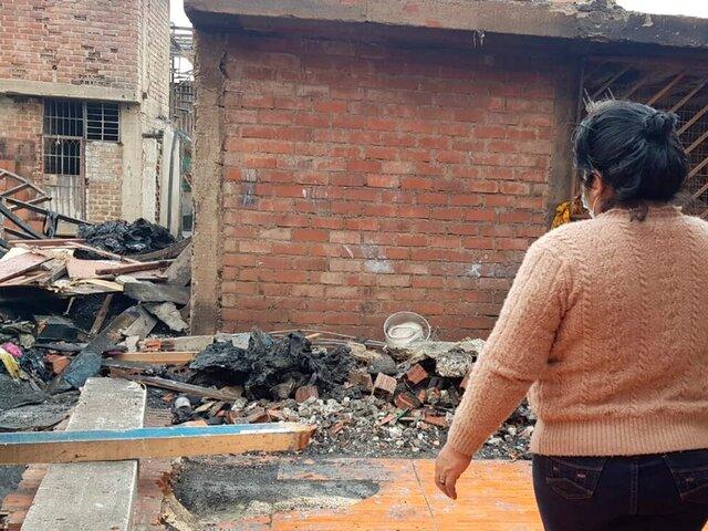 Familia pierde ahorros de 150 000 soles en incendio en Cantagallo