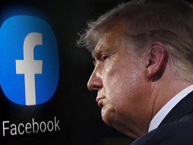Facebook cierra cuenta de Donald Trump hasta 2023