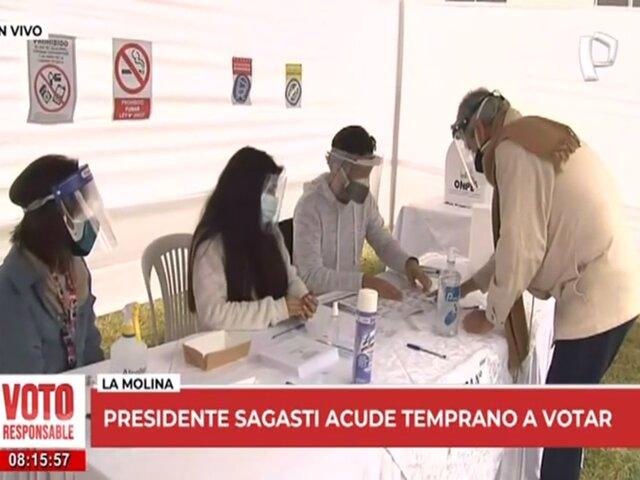 """Presidente Sagasti acude a votar: """"Lo más importante es respetar la voluntad del pueblo"""""""